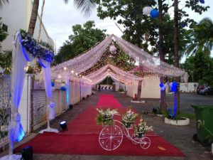 Beautiful outdoor wedding halls in Chennai