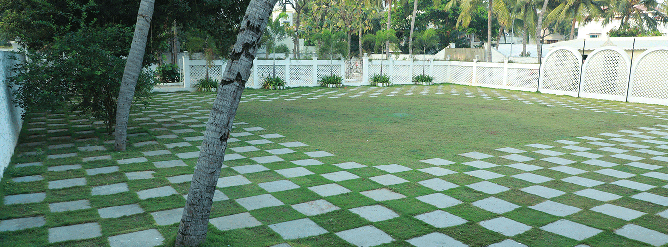 Attractive Outdoor Lawn decorated for outdoor wedding in Chennai