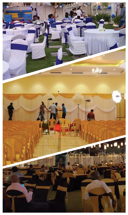 Collage image of different events happened at Chennai Convention Centre