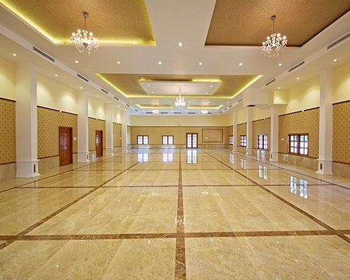 500 SEATER Madras wedding hall of CCC in Chennai shown with white light with ample natural light from big windows