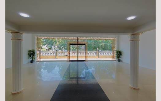 View of Dakshin hall from inside
