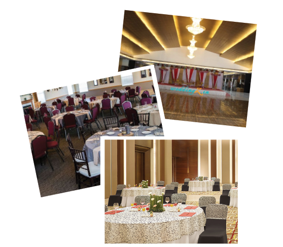 Pictures of decorations at a banquet marriage hall in Chennai