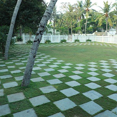 Green Outdoor lawn of CCC for all outdoor events in Chennai