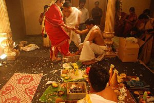 Brahmin Wedding ceremony held in Chennai Convention Centre
