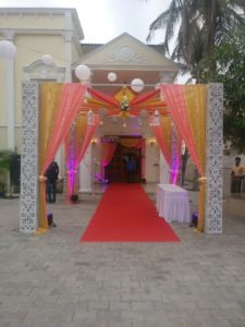 Beautiful balloon decoration for wedding halls in chennai